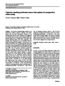 Cigarette smoking and breast cancer risk: update of a ... - CiteSeerX