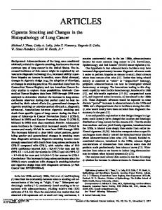 Cigarette Smoking and Changes in the Histopathology of Lung Cancer