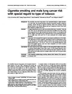 Cigarette smoking and male lung cancer risk with ... - Semantic Scholar