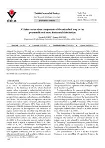 Ciliates versus other components of the microbial loop in ... - DergiPark