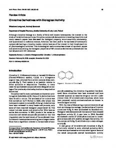 Cinnoline Derivatives with Biological Activity - Wiley Online Library