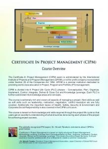 CIPM Course Overview