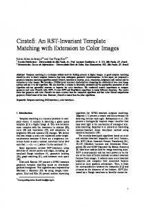 Ciratefi: An RST-Invariant Template Matching with Extension to ... - USP
