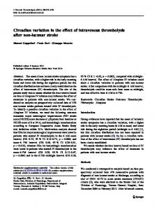 Circadian variation in the effect of intravenous thrombolysis after non ...