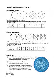 Circles, regions and chords