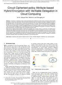Circuit Ciphertext-policy Attribute-based Hybrid Encryption with ...