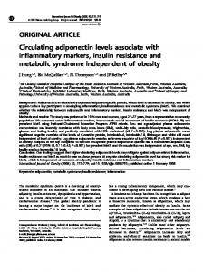 Circulating adiponectin levels associate with inflammatory markers ...