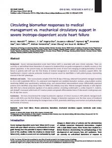 Circulating biomarker responses to medical management vs ...