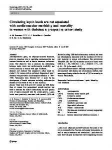 Circulating leptin levels are not associated with ... - Springer Link