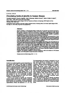 Circulating levels of ghrelin in human fetuses - European Journal of ...