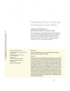 Circulating Tumor Cells and Circulating Tumor DNA