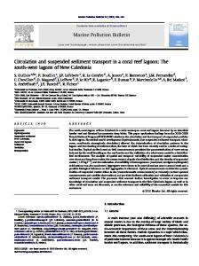 Circulation and suspended sediment transport in a coral reef ... - LEGOS
