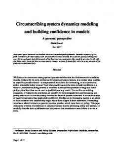 Circumscribing system dynamics modeling and