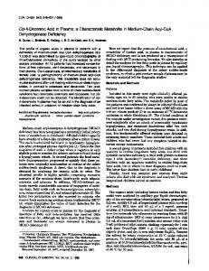 Cis-4-Decenoic Acid in Plasma: a ... - Clinical Chemistry