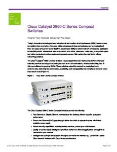 Cisco Catalyst 2960-C Series Compact Switches