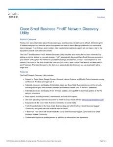 Cisco FindIT Network Discovery Utility