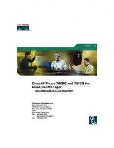 Cisco IP Phone 7905G and 7912G for Cisco CallManager