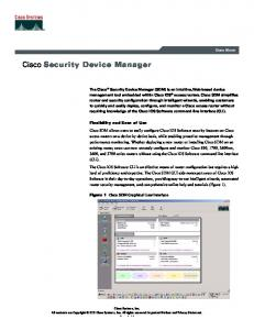 Cisco Security Device Manager