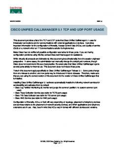 Cisco Unified CallManager 5.1 TCP and UDP Port Usage