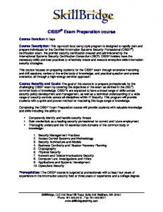 CISSP Exam Preparation course
