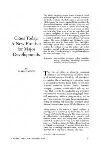 Cities Today: A New Frontier for Major Developments - Saskia Sassen