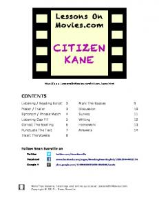CITIZEN KANE - Lessons On Movies.com