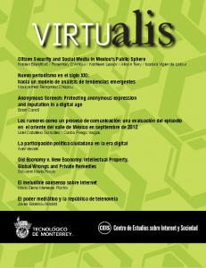 Citizen Security and Social Media in Mexico's Public ...