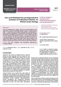 Citric acid Mediated One-pot Regioselective Synthesis of N-Alkylated ...