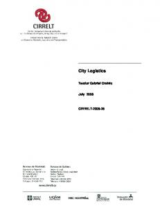 City Logistics - CIRRELT