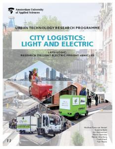 city logistics: light and electric - HvA