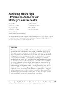 CITYSCAPE JULY 2012: Achieving MTO's High Effective ... - HUD User