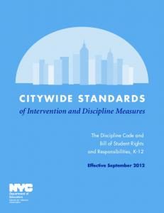 citywide standards - New York City Department of Education - NYC ...