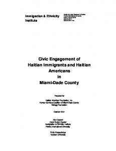 Civic Engagement of Haitian Immigrants and Haitian Americans in ...