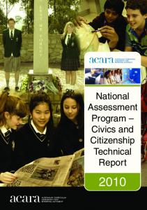 Civics and Citizenship Technical Report