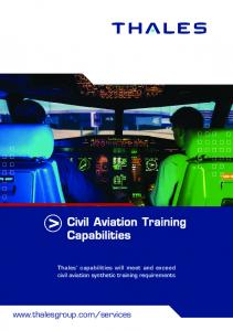 Civil aviation training capabilities