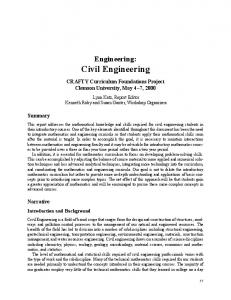 Civil Engineering - Mathematical Association of America