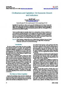 Civilisations and Capitalism: On Economic Growth and Institutions