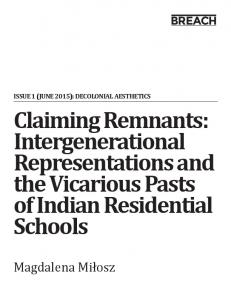 Claiming Remnants: Intergenerational ... - Squarespace