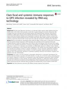 Clam focal and systemic immune responses to QPX infection revealed ...