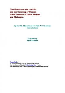 Clarification on the 'Awrah and the Covering of ... - Islams Women