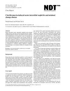 Clarithromycin-induced acute interstitial nephritis ... - Oxford Journals