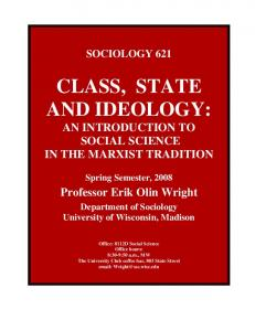 CLASS, STATE AND IDEOLOGY: - Social Science Computing ...