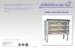 Classic Deck Oven Series