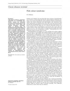 Classic diseases revisited Fish odour syndrome - Europe PMC
