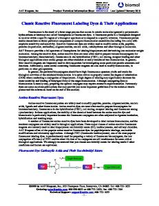 Classic Reactive Fluorescent Labeling Dyes & Their ... - Biomol GmbH