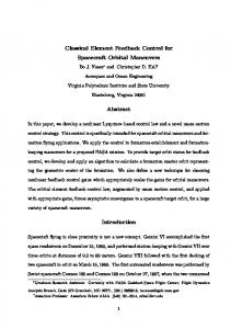 Classical Element Feedback Control for Spacecraft Orbital ... - CiteSeerX