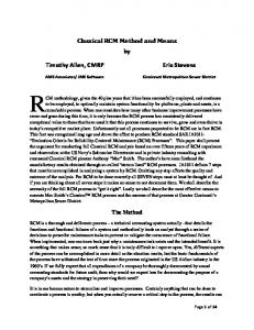 Classical RCM Method and Means by Timothy Allen, CMRP Eric ...