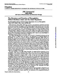 Classics - Journal of Biological Chemistry