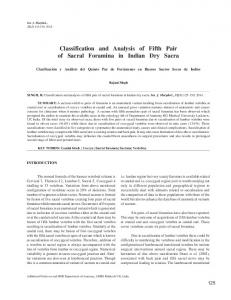 Classification and Analysis of Fifth Pair of Sacral Foramina in ... - SciELO