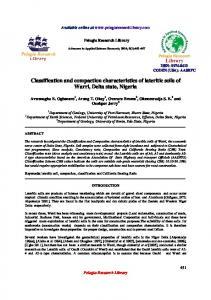 Classification and compaction characteristics of lateritic ... - iMedpub